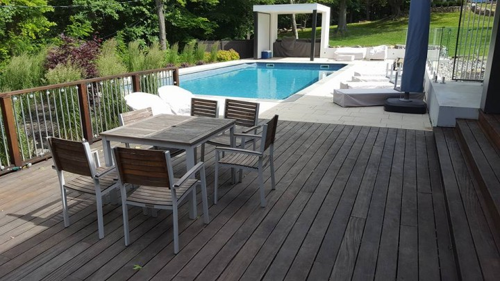 Before & After Deck Staining in Tuckahoe, NY