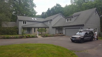 Before & After Exterior House Painting in Bedford, NY