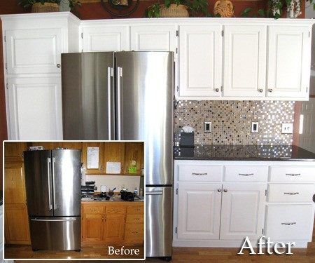 Before and After Cabinet Painting